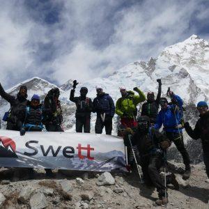 Everest base camp vandring med Swett