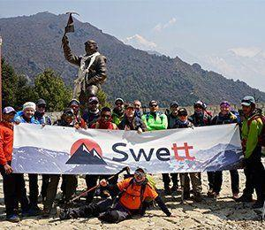 Vandra med Swett i Himalaya mot Everest Base Camp
