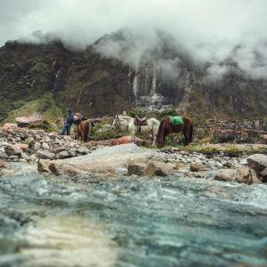 Swett besöker Lucilla och hennes hästar på Inkaleden