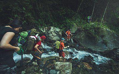 Över vattendrag på Inkaleden