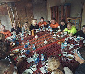 Swett ser alltid till att vi äter god mat på våra resor till Inkaleden