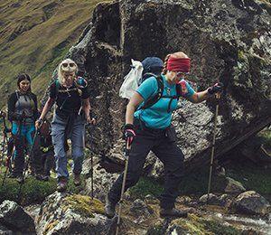 Vi vandrar i vackra Ahobamba-dalen på Inkaleden