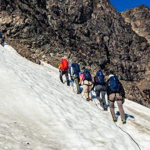 Snow clad kebnekaise äventyrsresa