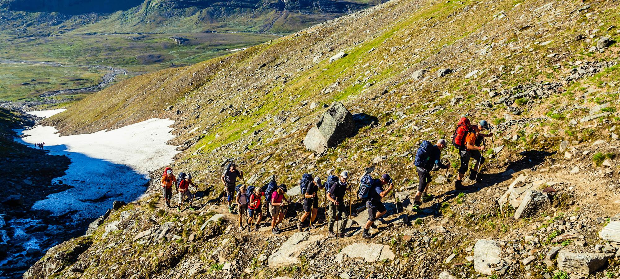 Vandra i Kebnekaise under ledning av guider | Swett