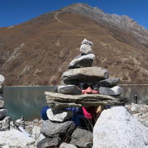 högalpina sjöar i nepal
