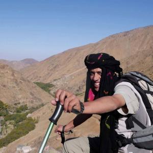 Swett värderar sina lokala guider i Atlasbergen högt