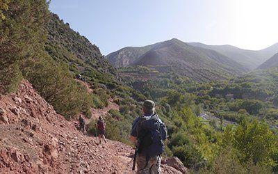 En vandring mot Jbel Toubkal i Atlasbergen