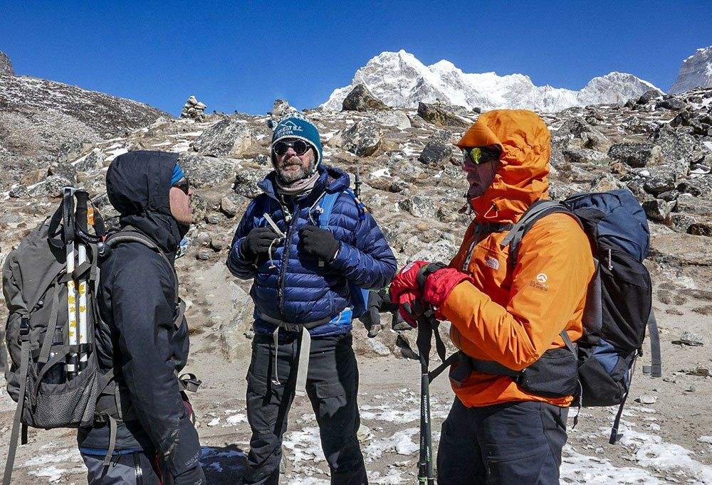 mot everest i himalaya