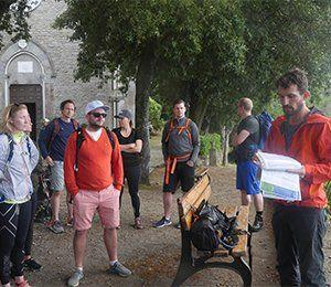 Gruppen samlas i Cinque Terre