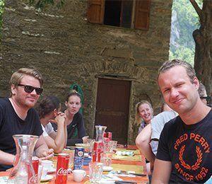 Lunch utomhus i vackra Cinque Terre