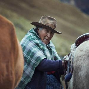 Lucilla bor på Inkaledens vackraste plats med utsikt över Ahobamba-dalen