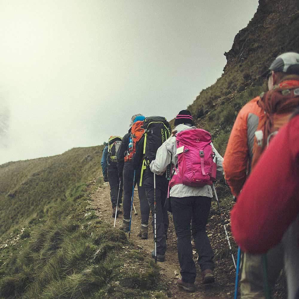 Det blir många dagars vandring på fantastiska Inkaleden