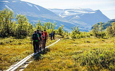 Vandring i de norrländska fjällen mot Kebnekaise