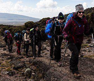 Vi vandrar mot Kilimanjaro i ett behagligt tempo för en sund acklimatisering