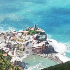 Fantastiskt vackra Cinque Terre i Lingurien på Italienska västkusten