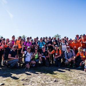Grupp vandrare i slutet av Kebnekaise-turen Swett