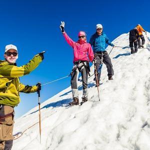 Lyckliga vandrare på glaciär | Kebnekaise