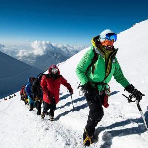 Den sista biten på klättringen mot Elbrus topp