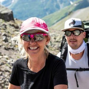 Glädje på vägen uppför Elbrus