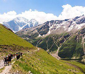 Vandringen mot Elbrus börjar