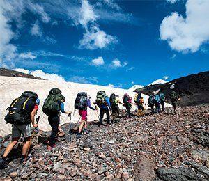 Vandring på egen rutt mot Elbrus