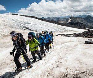 Vandring på Glaciärer Elbrus