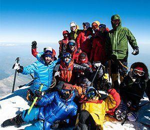 En magisk känsla når en när man kommit till toppen av Europas högsta berg - Elbrus