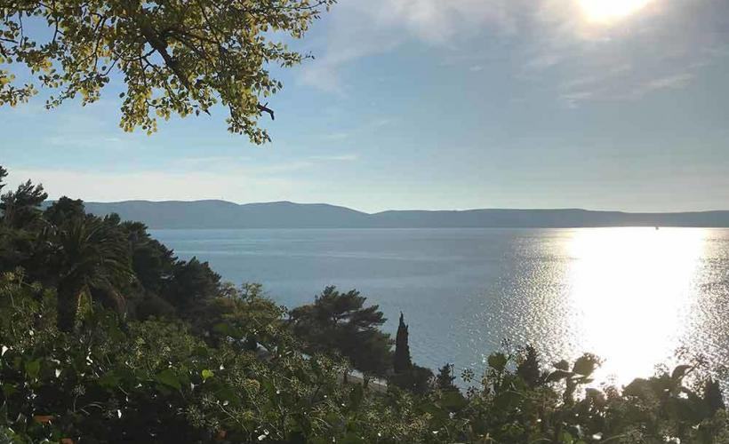Vackra Adratiska havet i Kroatien